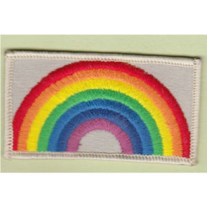Embroidery Patch with Rainbow Design 20*50mm