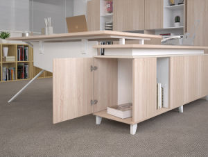 Office Furniture Managment Desk in Wooden with System Drawer pictures & photos