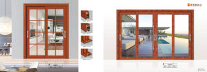 Oppein Simple Euro White Glass Double Sliding Door pictures & photos