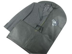 Non Woven Black Foldable Garment Bag Cover Suits Dress Bag (MECO248) pictures & photos