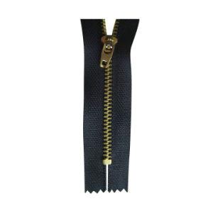 5# Brass Zipper with Golden Teeth (SZ-006) pictures & photos
