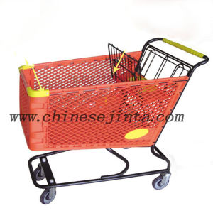 Plastic Shopping Cart, Plastic Basket Shopping Trolley (JT-E180) pictures & photos