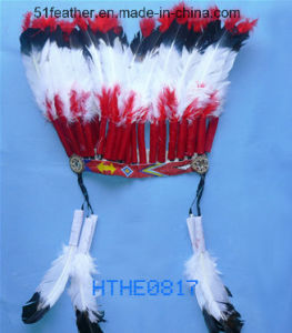 Handmade Orstrich/Turkry Feather Indian Headdress pictures & photos