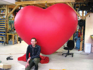 Giant Inflatable Heart for Wedding Decoration