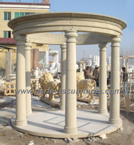 Garden Stone Marble Gazebo for Antique Outdoor Furniture (GR045) pictures & photos