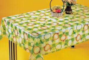 PVC Non-Woven Flower Design PVC Table Cloth, Latest Design Printing PVC Table Cloth