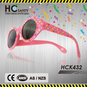 Soft Rubber 2015 Fashion Pink Kids Sunglasses (HCK432)