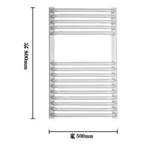 Electric White Curved Towel Radiator, Room Radiator
