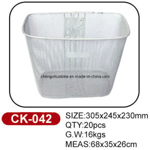 White Color Bicycle Basket Ck-042 in Hot Selling pictures & photos