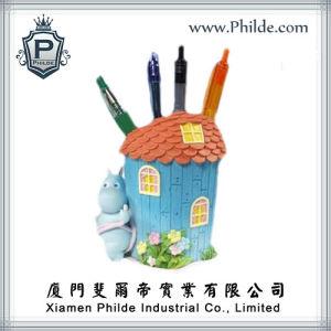 Beautiful House Figurine Pen Holder, Pen Pot