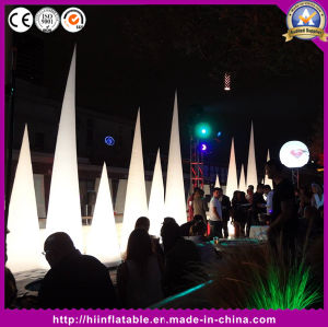 Decoration Wedding Inflatable LED Cones Inflatable Ivory Inflatable Tusk pictures & photos