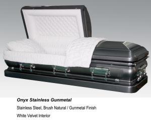 Onyx Stainless Gunmetal Casket