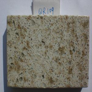Quartzite Tiles/Slabs/Countertops Beige/Grey/White Artificial Quartzite Stone (QR109) pictures & photos