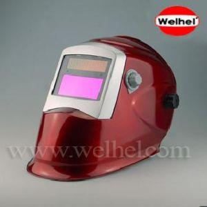 Solar Powered Auto-Darkening Welding Helmet (WH8511 Red) pictures & photos