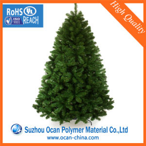 Green Rigid PVC Plastic Sheet Roll for Artificial Christmas Leaves pictures & photos