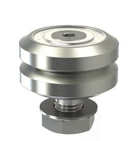 Lj13, V Rail Studded Wheel, V Rail Wheels, V Groove Double Row Bearing, Vacuum Bearing, for Vacuum Motion System, Gv3 Motion System, Twin Bearing, Hepco Bearing