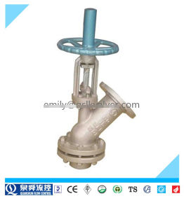 Angle Globe Type Bottom Discharging Valve pictures & photos