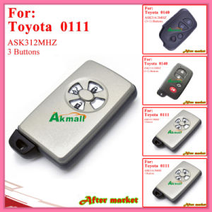 Smart Key for Toyota with 3buttons Ask314.3MHz 0111 ID71 Wd03 RV4yariscorolla 2005 2010 Silver pictures & photos