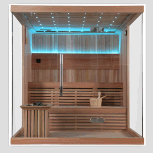 Imported Red Cedar Solid Wood Sauna House Cabinet for Beauty pictures & photos