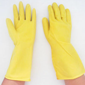 Working Household Rubber Safety Latex Chemical Gloves pictures & photos
