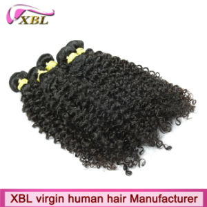 Fast Delivery Natural Black Kinky Curly Brazilian Good Human Hair Extensions pictures & photos