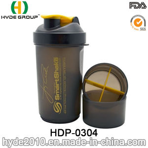 PP Plastic BPA Free Protein Powder Shaker Bottle, 600ml Wholesale Plastic PP Protein Shaker Bottle (HDP-0304) pictures & photos