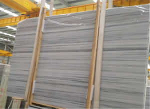 Straight Wooden White Marble, Building Material White Wood Grain Marble pictures & photos