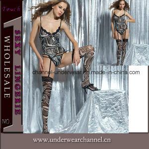 Hot Sale Sexy 3PCS Teddy Lingerie Set Underwear (TSW6155) pictures & photos