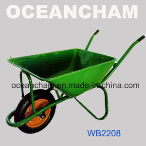 (Wb2208) Gardening Green Colour Wheel Barrow Wheelbarrow