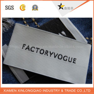 Wholesale Custom Clothing Print Polyester Printing Washable Woven Garment Label pictures & photos