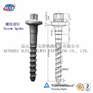 Customized Railway Timber Screw, Drive Screw, Coach Screw, Manufacturers for Steel Rail Fastening pictures & photos