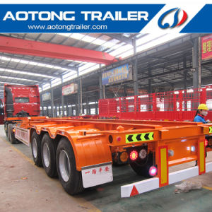 Low Price Skeleton Flatbed Container Semi Trailer for Sale pictures & photos