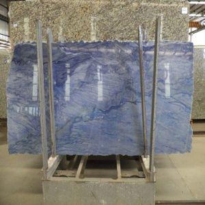 Polished Natural Blue Quartzite Slab Quartz Stone for Wall