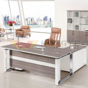 White Clean Design Office Big Executive Desk (HY-NNH-JT15) pictures & photos