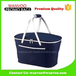 Recyclable Two Aluminium Handle Basket Tote for Picnic pictures & photos