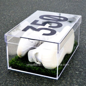 Large Crystal Clear Stackable Acrylic Shoe Display Box pictures & photos