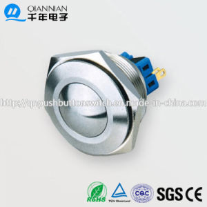 30mm 1no 1nc/2no 2nc Resetable Self-Locking Round IP67 Ik10 Push Button Switch pictures & photos