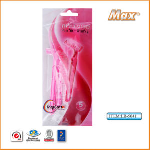 Twin Blade Stainless Steel Blade Disposable Razor for Woman (LB-5041) pictures & photos