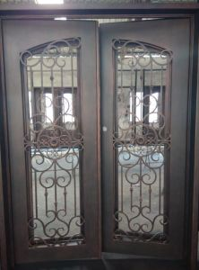 Hot Sale Wrought Iron Entry Door with Square Top pictures & photos