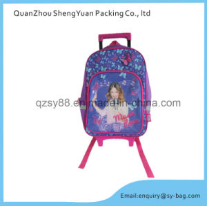 Singing Girls Cartoon School Trolley Bag