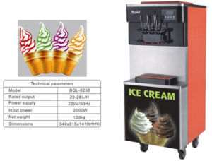 Hot China Products Wholesale Factory Price 2+1mixed Flavours Soft Ice Cream Machine (BQL825B) pictures & photos