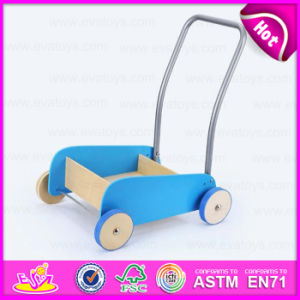 New Product 2015 Wooden Cart Toy Promotion, Funny Wooden Hand Push Cart Building Block Toy, Colorful Wooden Toy Pull Cart W16e028c pictures & photos