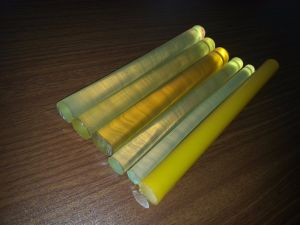 Yellow Polyurethane Rods, PU Rods, Plastic Rods, Polyurethane Bar, PU Bar, Plastic Bar pictures & photos