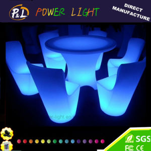 LED Furniture Lighted Plastic RGB Glowing LED Dining Set pictures & photos