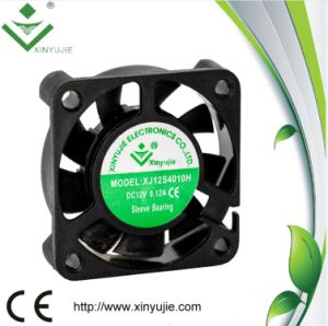 40X40X10mm 3 Wire 12V 0.8W DC Fan pictures & photos