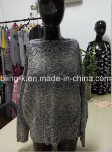 2016 Latest Wool Mixed of Spaced Color Knitted Blouse for Women