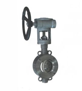 Gear Operated Concentric Wafer Type Ceramic Sealing Butterfly Valve (GD371TC) pictures & photos