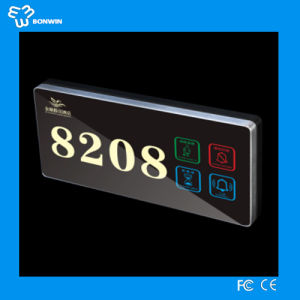 Electronic Touch LCD Screen Aluminum Door Sign for Hotel/Home/Office pictures & photos
