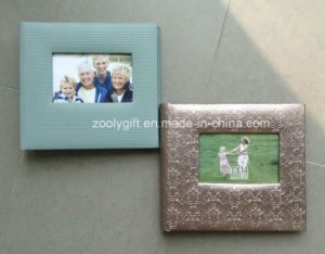 200 Photos 4X6 Textured Leather Photo Albums with Frame Windows pictures & photos
