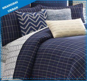 6 Piece Indigo Stripe Design Polyester Comforter Set pictures & photos